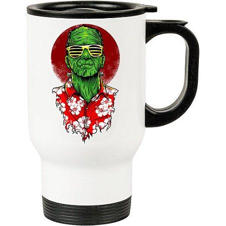 Caneca Térmica Branca Frankenstein Holiday