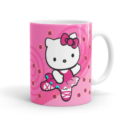 Caneca Porcelana Hello Kitty Branca