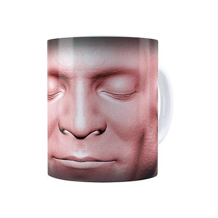 Caneca Porcelana Cabeça de Zombie 02 Branca