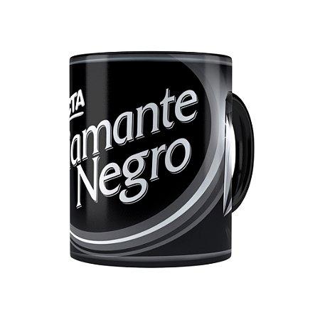 Caneca Porcelana Chocolate Diamante Negro Barra Preta