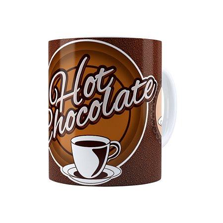 Caneca Porcelana Hot Chocolate Branca