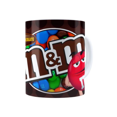Caneca Porcelana M&M'S Milk Chocolate Branca