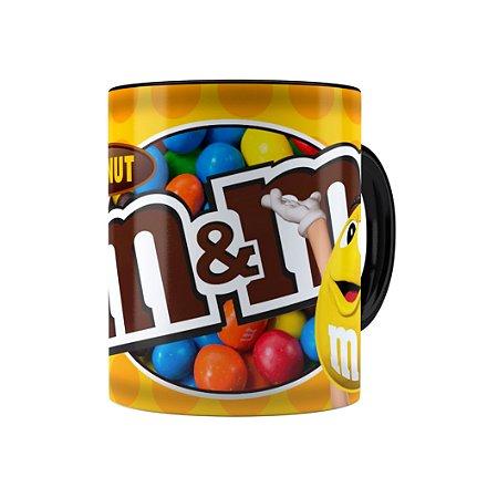 Caneca Porcelana Chocolate M&M'S Peanut Preta