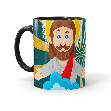Caneca Páscoa O Verdadeiro Significado é Jesus 01 Preta
