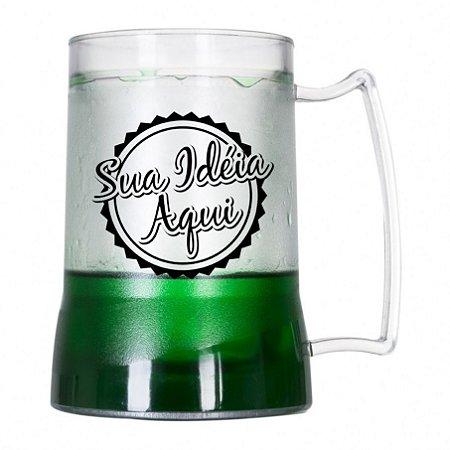 Caneca Gel Personalizada para Chopp Verde 450ml