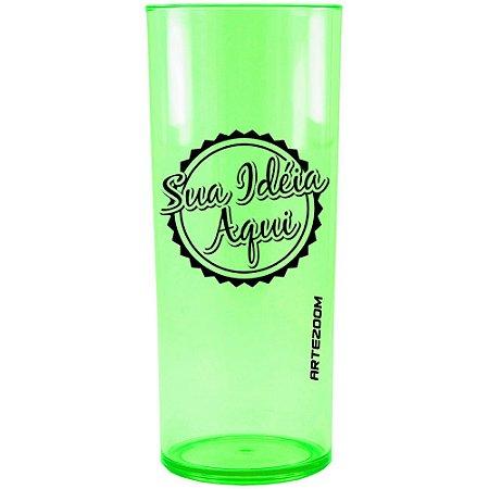Copo Personalizado Long Drink Acrílico 350ml Verde Neon