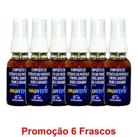 PROMOÇÃO 6 Própolis Spray Romã e Gengibre  35 ml