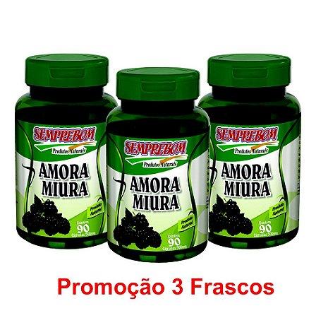 PROMOÇÃO 3 AMORA MIURA 90 CAPSULAS 500mg