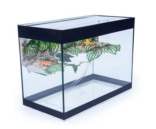 Aquaterrário Com Plataforma para Tigre d'água  100x40x50 - 200Lts / 6mm