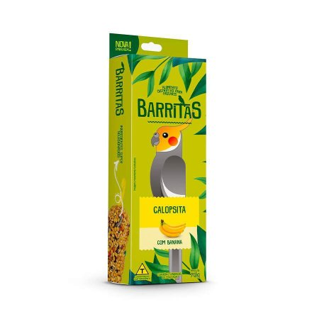 Barritas Para Calopsita Com Banana Zootekna 70g