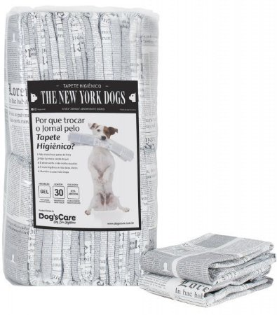 Tapete Higiênico Dog's Care The New York Dogs - 30un