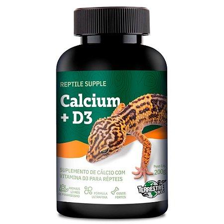 Cálcio Com  D3 Reptile Supple Calcium + D3 200g