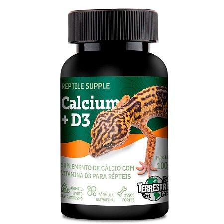 Cálcio Com  D3 Reptile Supple Calcium + D3 100g