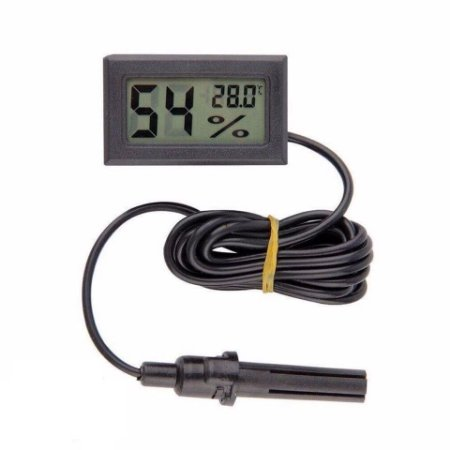 Termômetro Digital Lcd Higrômetro Umidade Sensor Externo