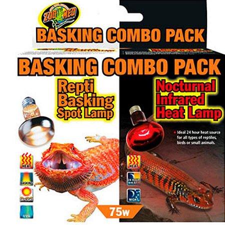 Lampada de Aquecimento Dia e Noite Zoo Med Basking Combo Pack 75w