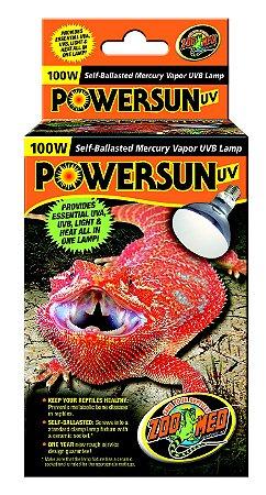 Zoo Med Powersun Lâmpada UVA e UVB Vapor de Mércurio