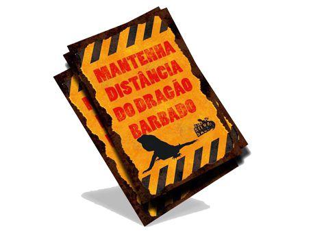 Adesivo - Mantenha Distancia Dragão Barbudo