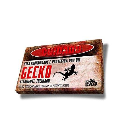 Adesivo Cuidado Gecko