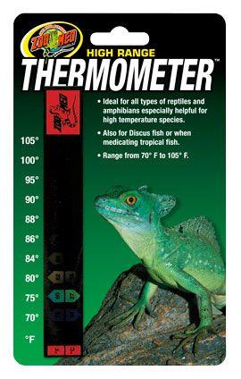 Termômetro de Fita Zoo Med Para Terrários de Répteis