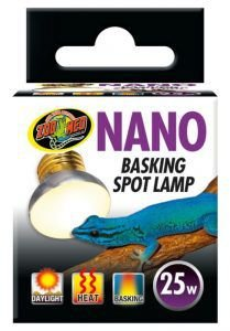 Lampada de Aquecimento UVA Nano Basking Spot Para Répteis ZooMed 25w