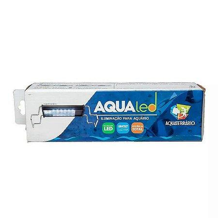 Luminária Para Terrário Aqualed Branca/azul/Rosa 30-35cm 16w 840 Lm