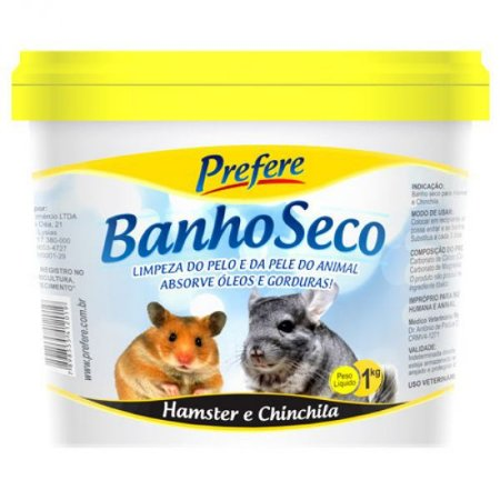 Banho Seco para Hamster e Chinchila Prefere - 1kg