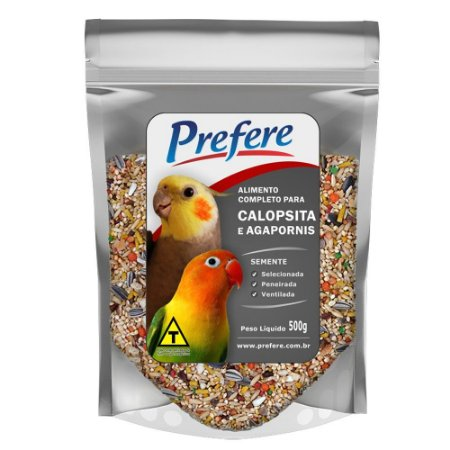 Mix de Sementes Para Calopsita e Agapornis Prefere 500g