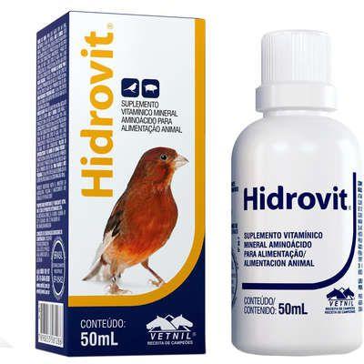 Hidrovit Suplemento Vitaminico Para Aves Vetnil - 50 ML