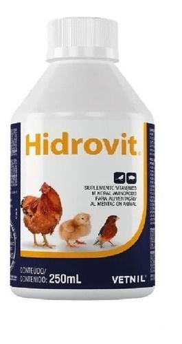 Hidrovit Suplemento Vitaminico Para Aves Vetnil - 250 ML