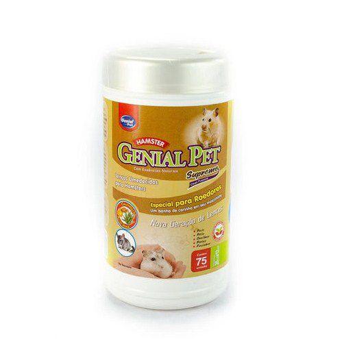 Lenço Umedecido Para Hamsters Genial Pet 75un