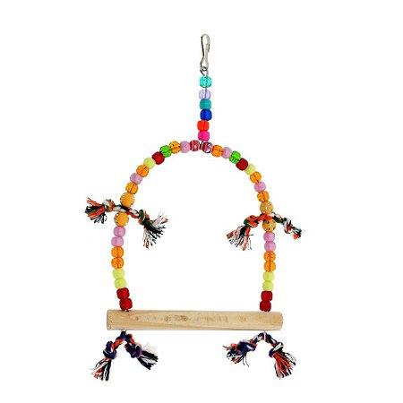 Brinquedo Balanço Redondo Para Calopsita Bird Toy