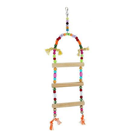 Brinquedo Escada Redonda Para Calopsita Bird Toy