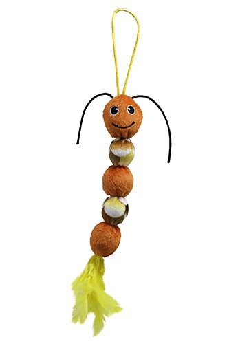 Brinquedo De Pelúcia Para Pets Centopéia Com Chocalho 30cm