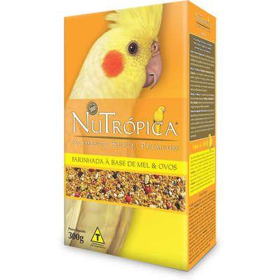 Farinhada Nutrópica para Calopsita Mel Ovos e Frutas- 300g
