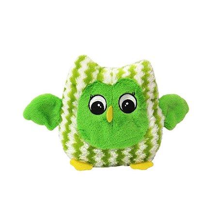 Brinquedo De Pelúcia Para Pets Coruja Verde