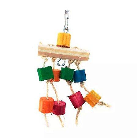 Brinquedo De Maderia Para Aves Chuveiro Toy For Bird