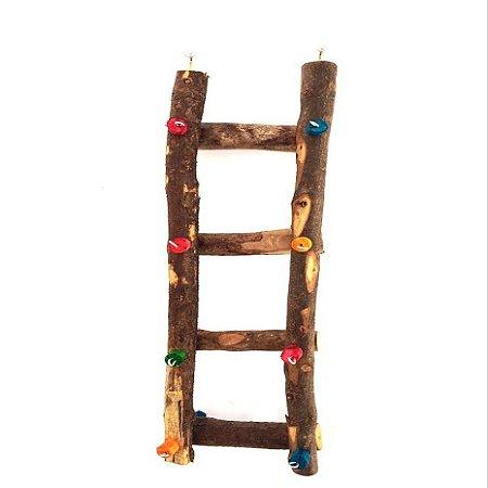 Brinquedo De Maderia Para Aves Escada Calopsita Toy For Bird