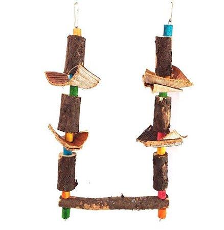 Brinquedo De Maderia Para Aves Balanço Toy For Bird