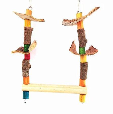 Brinquedo De Maderia Para Aves Balancinho Toy For Bird