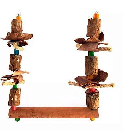 Brinquedo De Maderia Para Aves Balanço Papagaio Toy For Bird