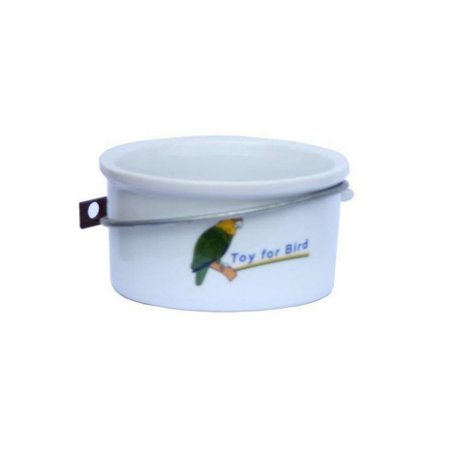 Comedouro Porcelana Calopsita C/Suporte Toy For Bird
