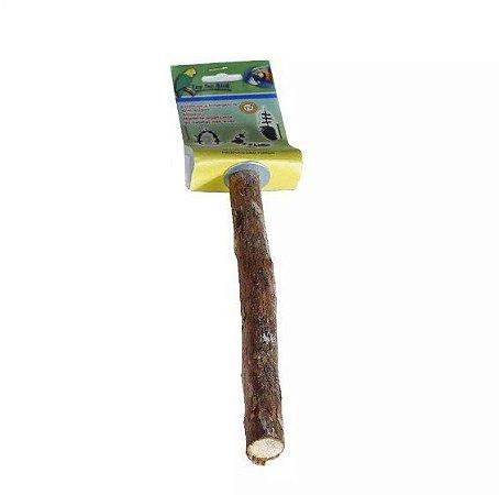 Poleiro Parafuso De Madeira Pequeno Para Aves Toy For Bird