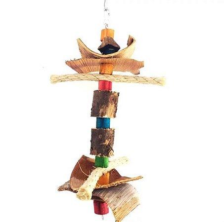 Brinquedo De Maderia Para Aves Lucas Toy For Bird