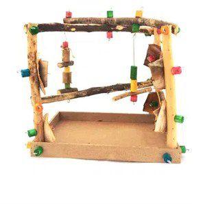 Brinquedo De Maderia Para Aves Parquinho Toy For Bird