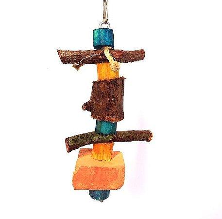 Brinquedo De Maderia Para Aves Pedra P Toy For Bird