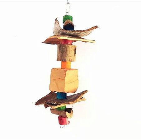 Brinquedo De Maderia Para Aves Pedra M Toy For Bird