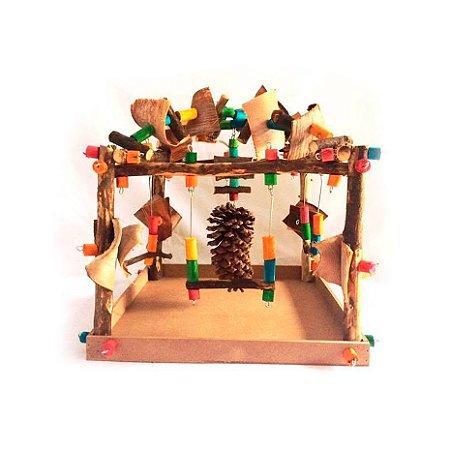 Brinquedo De Maderia Para Aves Parque Toy For Bird