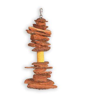 Brinquedo Cordão Casca De Pinus P Para Aves Big Toys