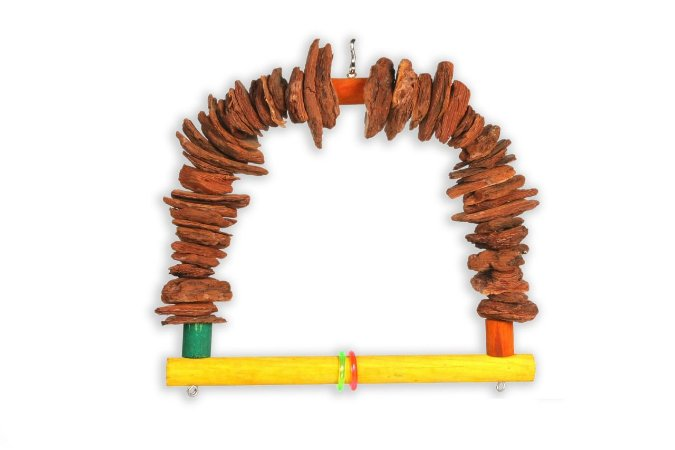 Brinquedo Balanço Casca De Pinus G Para Aves Big Toys