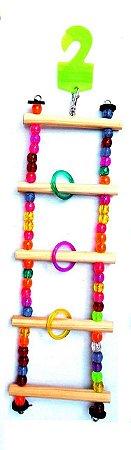 Brinquedo Escada Miçanga M Para Aves Big Toys
